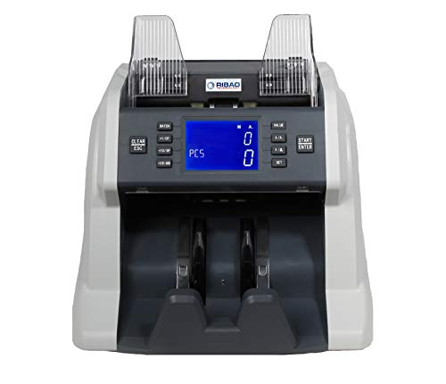 Ribao BC-35 Bill Counter, UV/MG/IR Counterfeit Money Counter, Cash Count, Mixed Portable Currency Counter, with 2-Year After Service, at Home/for Your Room