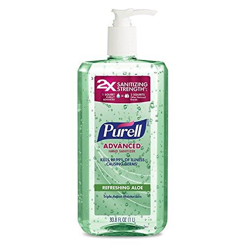 PURELL Advanced Instant Hand Sanitizer with Aloe xezMPz, 1 Liter, 1 Bottle
