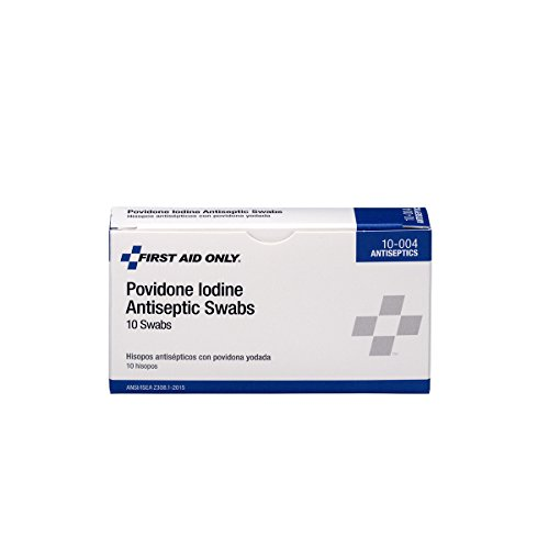 First Aid Only PVP Iodine Swabs, 10 Per Box