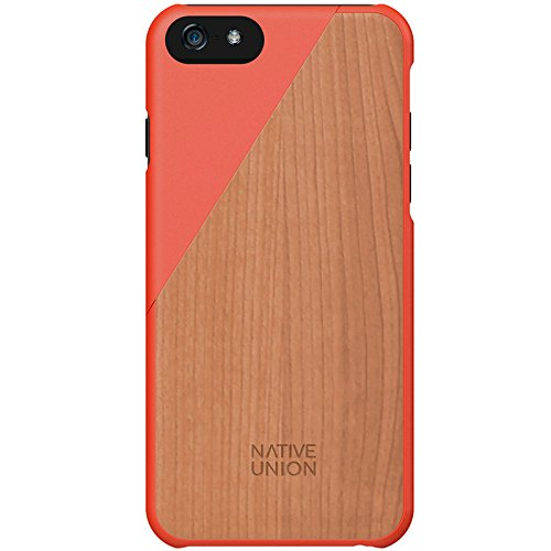 Native Union Clic Wooden Case for iPhone 6/6S - Handcrafted Real Wood Protective Slim Case Cover (Coral)