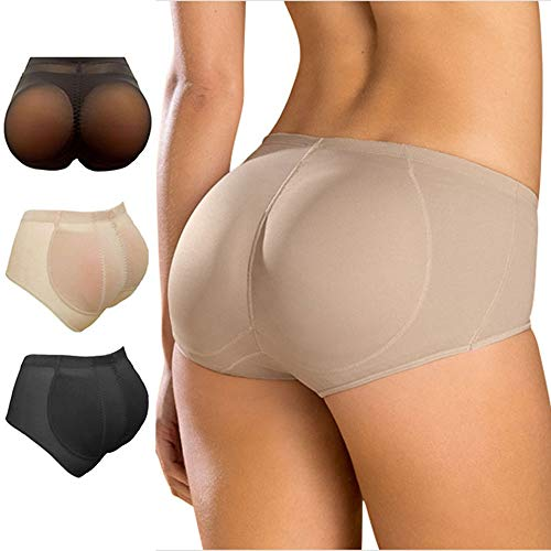 LikeEJay Silicone Buttocks Pads Butt Enhancer Body Shaper Panty Tummy Control Girdle (XL, Black)