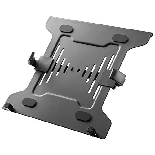 HumanCentric Laptop Mount Tray for Monitor Arms and Stands (Tray Only) | Notebook Arm Mount Tray Fits 75 x 75 and 100 x 100 mm VESA Mount Holes | Fully Secures Laptop