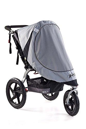 BOB Sun Shield for Single Swivel Wheel Jogging Strollers| UV Protection + Ventilated + Easy Install