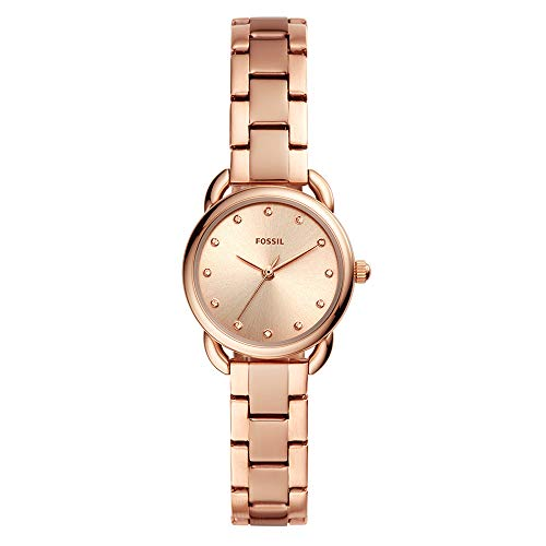 Fossil Women's Tailor Mini Rose Gold Tone Stainless Steel Watch ES4497