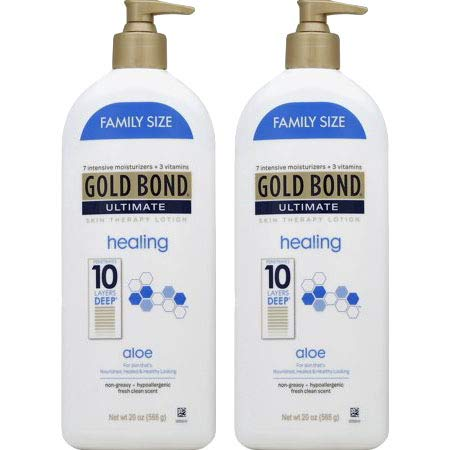 PACK OF 4 - Gold Bond Ultimate Healing Skin Therapy Lotion with aloe, 20oz
