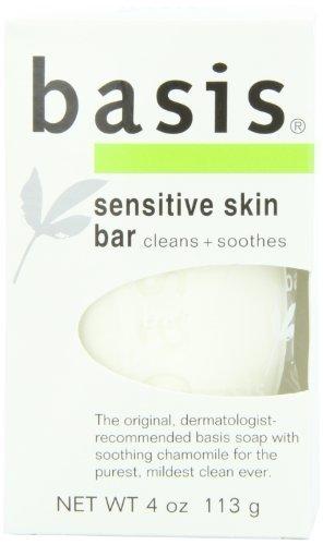 Basis Sensitive Skin Cleansing Bar - 4 oz - Buy Packs and SAVE (Pack of 2)
