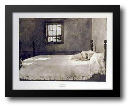 Master Bedroom, c.1965 33x26 Framed Art Print by Wyeth, Andrew