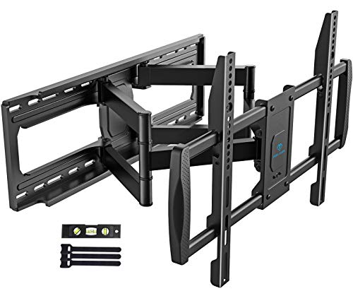 PERLESMITH TV Wall Mount Bracket Full Motion - Fits 16', 18' or 24' Studs - for Most 50-90 Inch Flat Curved LED LCD OLED 4K TVs up to 165lbs Max VESA 800x400mm, 23.62' Extension - PSXFK1