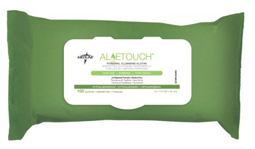 Medline Aloetouch Personal Cleansing Wipes - MSC263854, Non-Antibacterial
