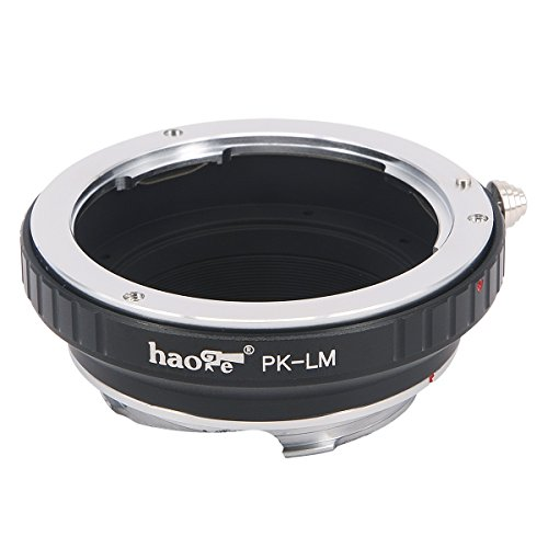 Haoge Lens Mount Adapter for Pentax K PK Mount Lens to Leica M LM Mount Camera Such as M240, M240P, M262, M3, M2, M1, M4, M5, CL, M6, MP, M7, M8, M9, M9-P, M Monochrom, M-E, M, M-P, M10, M-A