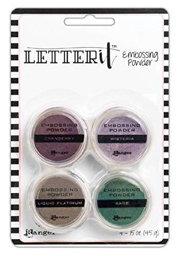 Ranger Letter It Embossing Powder Set-Graceful, Assorted