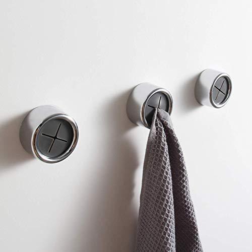 KAIYING Kitchen Towel Hooks Round Self Adhesive Dish Towel Holder Wall Mount Hand Towel Hook Tea Towel Rack Hanger for Cabinet Door