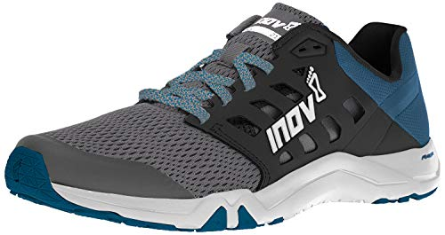 Inov-8 Mens All Train 215   Lightweight Cross Training Athletic Shoe   for Versatile Training   Great Support When Weight Lifting and Power Lifting  Grey/Blue Green M10/ W11.5