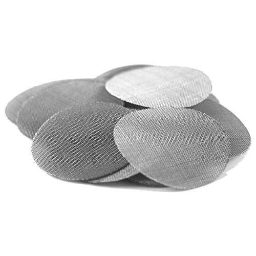 1' Stainless Steel Pipe Screens   Made in The USA Pipe Screen Filters (50 Pack)