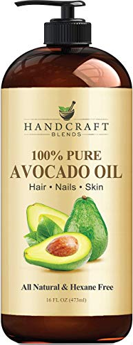 Handcraft Pure Avocado Oil - 100% Pure and Natural - Premium Quality Cold Pressed Carrier Oil for Aromatherapy, Massage and Moisturizing Skin - Hexane Free - 16 fl oz - Packaging May Vary