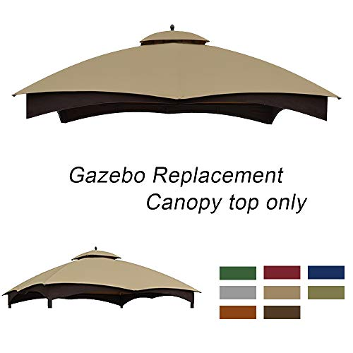 ABCCANOPY Replacement Canopy Top for Lowe's Allen Roth 10X12 Gazebo #GF-12S004B-1(Beige)