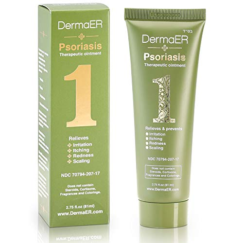 DermaER Fast-Acting Psoriasis Healing Cream Ointment   Effective Treatment with Salicylic Acid   Finally Get Relief from Irritation, Redness, Scaly Plaques, Burning & Itching   2.75 Ounces