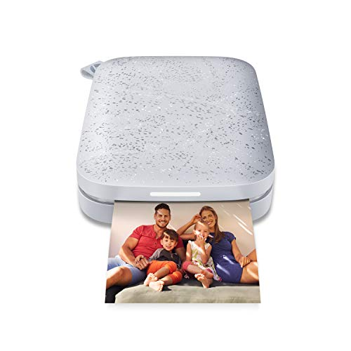 HP Sprocket Portable 2x3' Instant Photo Printer (Luna Pearl) Print Pictures on Zink Sticky-Backed Paper From Your iOS & Android Device