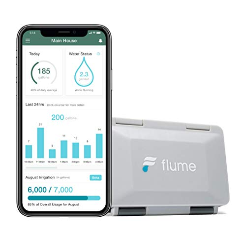 Flume 2 Smart Home WiFi Water Monitor and Leak Detector: Detect Water Leaks Before They Cause Damage. Monitor Your Water Use in Real Time to Reduce Waste. Installs in Minutes, No Plumbing Required