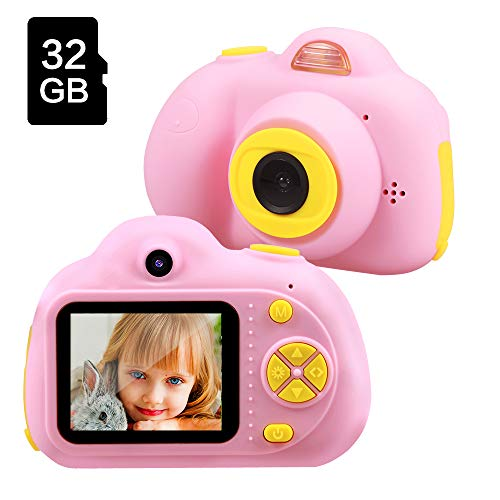 Birthday Gifts for 4 5 6 Year Old Girls,TekHome Kids Camera,2020 Top Toys for Girls Age 3-12,Best Gift Ideas for Christmas,Pink.