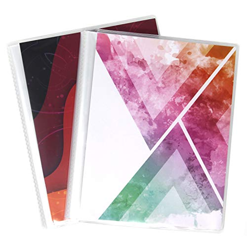6 x 8 Photo Albums Pack of 2 - Each Large Format Photo Album Holds Up to 60 6x8 Photos in Clear Pockets. Flexible, Removable Covers Come in Bright, Modern Patterns.