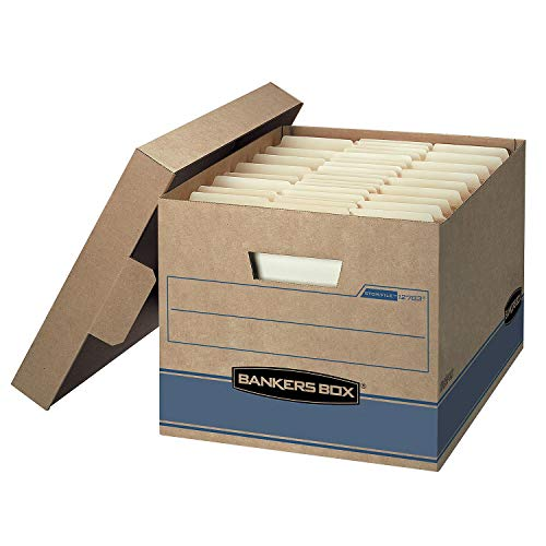 Bankers Box Heavy Duty Storage Boxes 10x12x15' 10 Pack