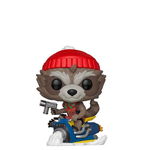 Funko Pop! Marvel: Holiday - Rocket Raccoon On Sled, Multicolor, Standard