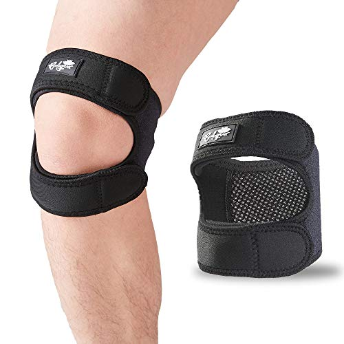 Patellar Tendon Support Strap (Small/Medium), Knee Pain Relief Adjustable Neoprene Knee Strap for Running, Arthritis, Jumper, Tennis Injury Recovery