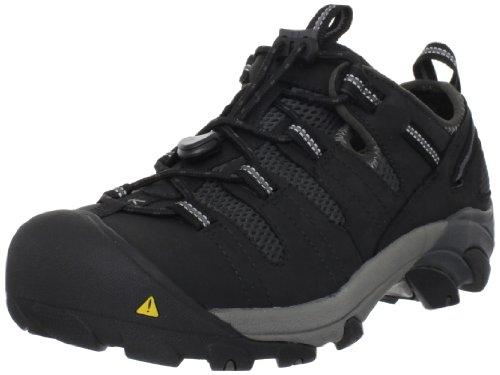KEEN Utility Men's Atlanta Cool Steel Toe Work Shoe, 13 D US, Black/Black, 13D