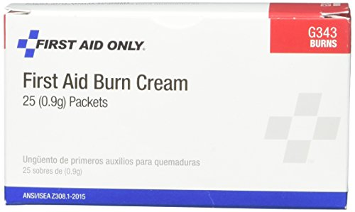 Pac-Kit by First Aid Only 13-125 First Aid/Burn Cream, 0.9 gm Packet (Box of 25)