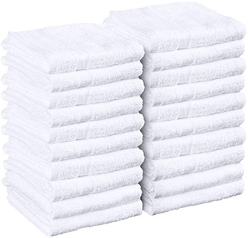 UTOPIA Cotton Salon Towels 16-Inch x 27-Inch, 24-Pack, White
