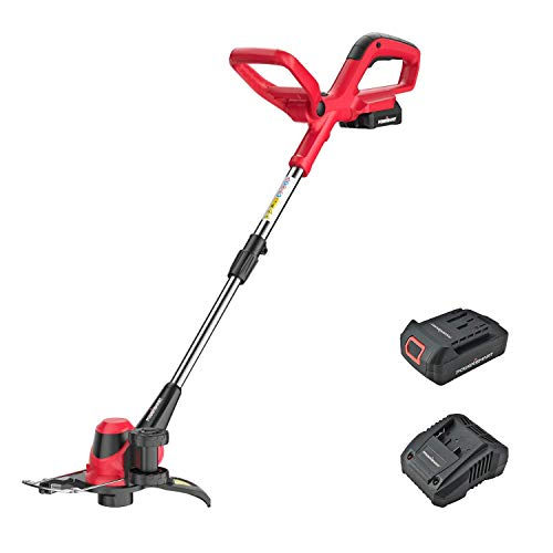 PowerSmart 20 Volt Lithium-Ion Cordless String Trimmer/Edger with Easy Feed, Includes One Battery & Charger,PS76110A