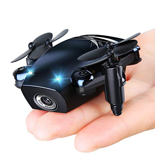 S9M Foldable Mini Drones, Mini RC Drones with Camera 720P HD, Portable Drone with Altitude Hold 3D Flips and Headless Mode, Pocket Quadcopter for Boys and Girls