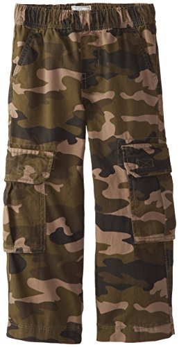 The Children's Place Boys' Uniform Pull On Chino Cargo Pants, Olive Camo, 5
