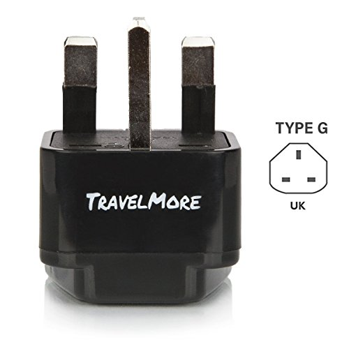 UK Travel Adapter for Type G Plug - Works with Electrical Outlets in United Kingdom, Ireland, Great Britian, Scotland, England, London, Dublin
