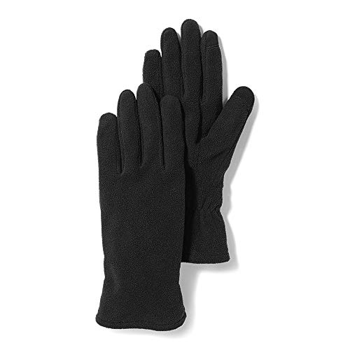 Eddie Bauer Women's Quest Fleece Gloves, Black Regular L/XL
