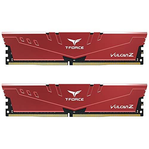 TEAMGROUP T-Force Vulcan Z DDR4 16GB Kit (2x8GB) 3000MHz (PC4-24000) CL16 Desktop Memory Module Ram (Red) - TLZRD416G3000HC16CDC01