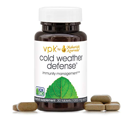 Cold Weather Defense | 30 Tablets - 1000 mg ea | Natural Herbal Remedy for Balancing Mucus in Lungs & Sinuses with Indian Elecampane & Licorice | Support Immunity with Holy Basil | Helps Remove Toxins