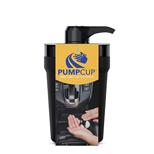 PumpCup Portable Hand Sanitizer Dispenser for Car Cup Holders (Black)