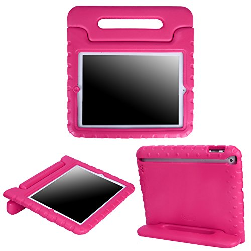 HDE Case for iPad 2 3 4 - Kids Shock Proof Heavy Duty Impact Resistant Protective Cover Handle Stand for Apple iPad 2nd 3rd 4th Generation Tablet (Pink)