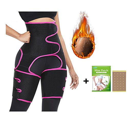 evergremmi 3 in 1 Hip Thigh Waist Trimmer, Body Shaper Cincher Slimming Belt Workout Waist Trainer Invisible Butt Lifter Booty Hip Enhancer Sport Shapewear