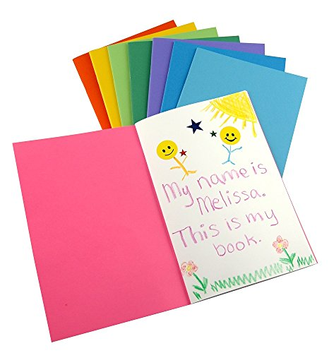 Hygloss Products - 77640 Colorful Blank Books – Books for Journaling, Sketching, Writing & More – Great for Arts & Crafts - 10 Assorted Bright, Fun Colors - Pocket-Size - 4.25 x 5.5 Inches - 10 Pack