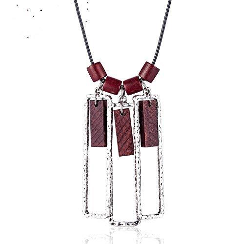 Necklace Pendant Women Long Necklaces Vintage Wood Beads Jewelry Necklaces & Pendants Women Collares