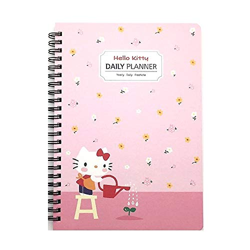 Sanrio Hello Kitty Floral Spiral Daily Notebook Note Pad 1pc (pink)