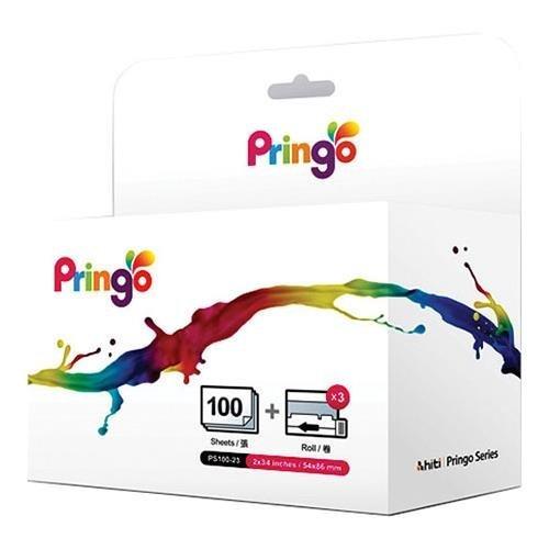 Hiti PS-100 100-Sheets 2x3.4 Media for Pringo P231 WiFi Dye-Sub Portable Photo Printer