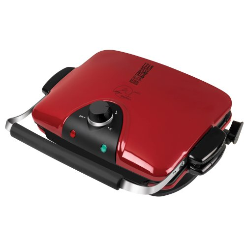 George Foreman GRP90WGR Next Grilleration Electric Nonstick Grill with 5 Removable Plates, Red
