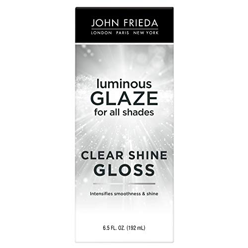 John Frieda Luminous Glaze Clear Shine Gloss (Anti-Fade/Color Enriching/Safe Color Treated), For All Hair Shades, Unscented, 6.5 Fl Oz