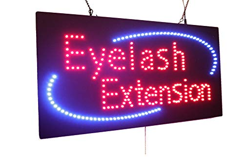 Eyelash Extension Sign, TOPKING Signage, LED Neon Open, Store, Window, Shop, Business, Display, Grand Opening Gift