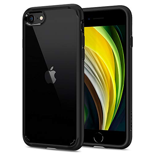 Spigen Ultra Hybrid [2nd Generation] Designed for Apple iPhone SE 2020 Case/Designed for iPhone 8 Case (2017) / Designed for iPhone 7 Case (2016) - Black