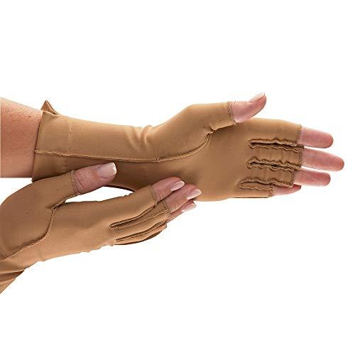 isotoner Therapeutic Gloves, Pair, Open Finger, Medium